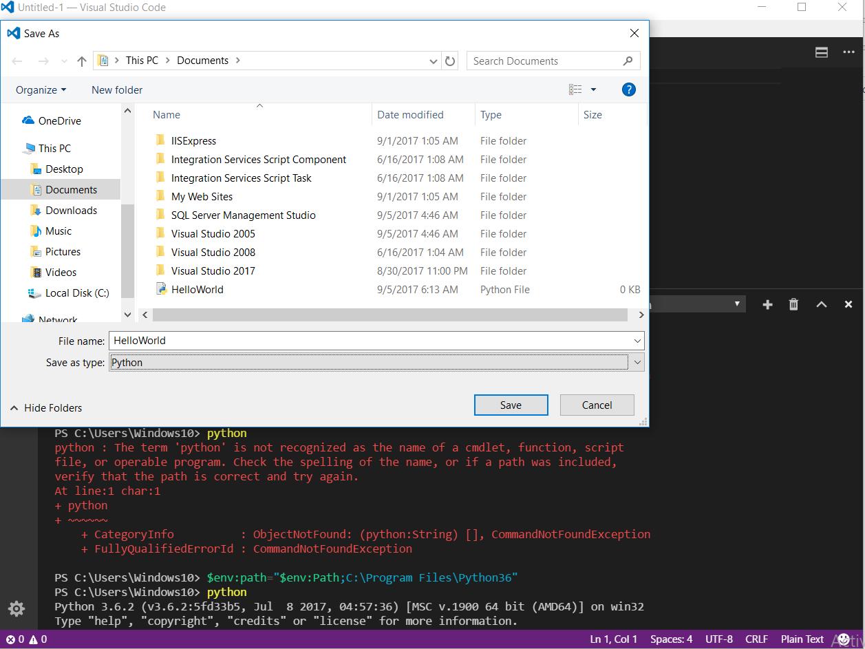 how to create a program using python