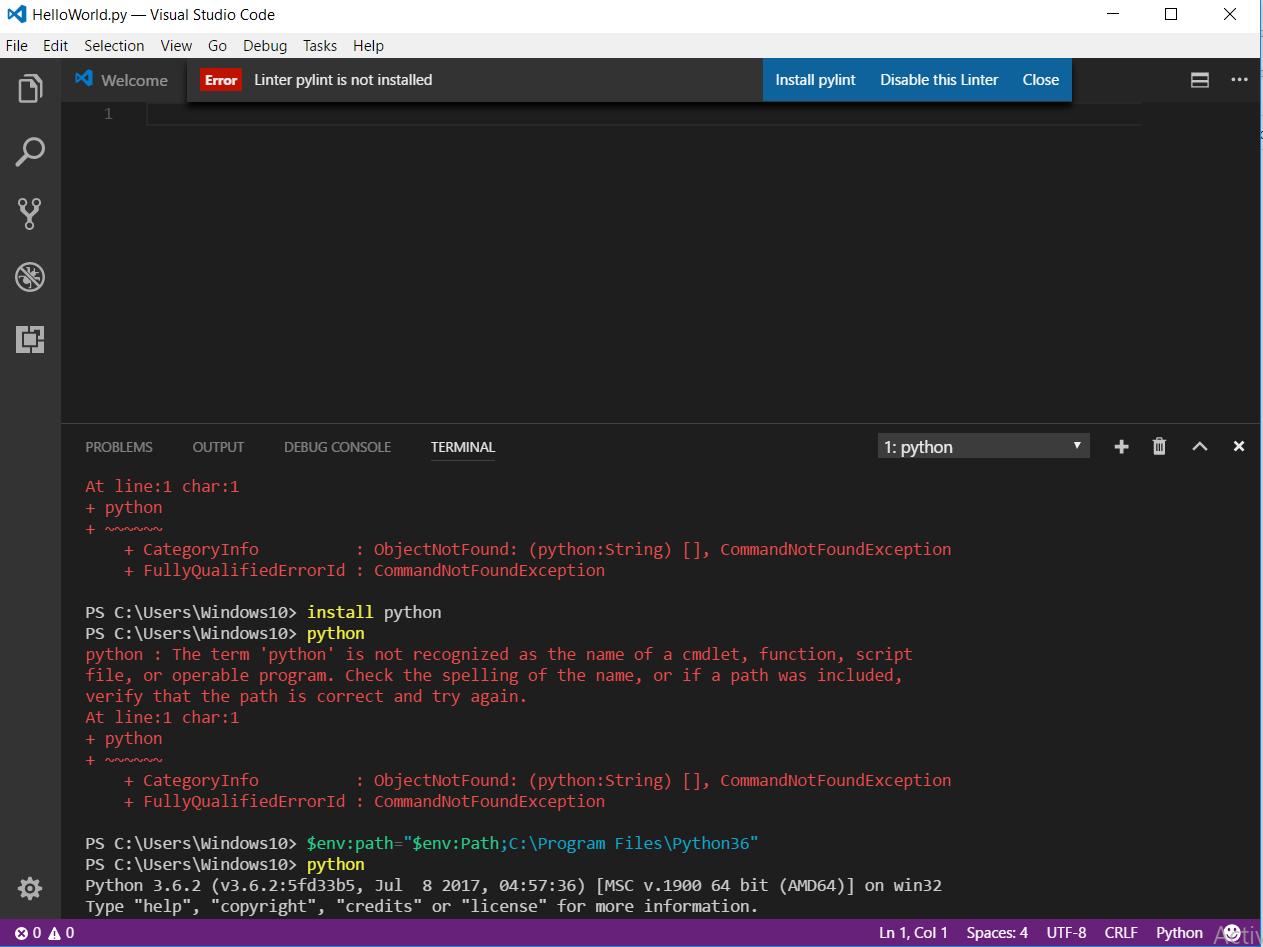 Step 2: Write and run code